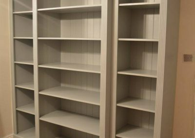بوفه و ویترین , کتابخانه چوبی