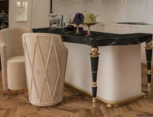 نمونه کار ساخت میز ناهارخوری چوبی کلاسیک