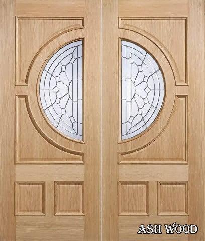 درب دو لنگه چوبی