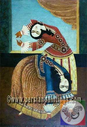 نقاشی زنان دوره زندیه  و قاجاریه