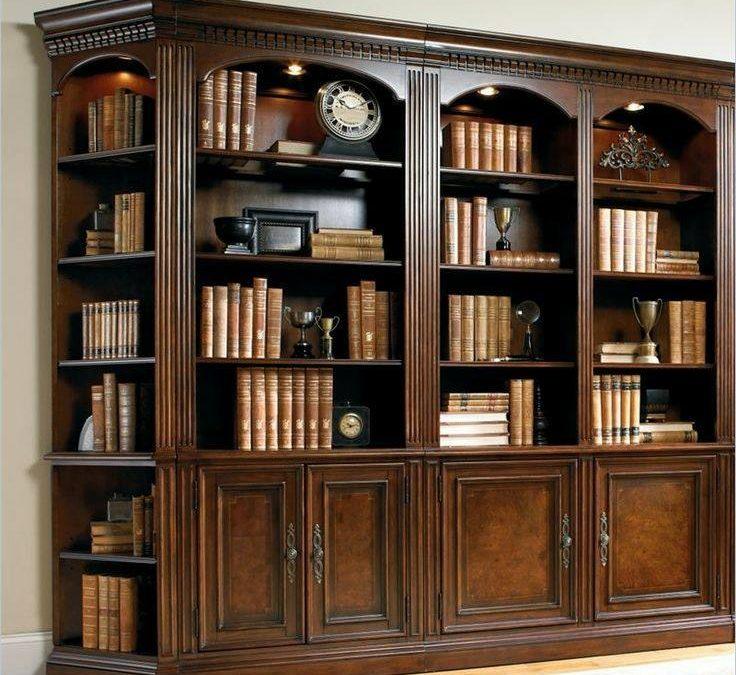 مدل های جدید بوفه ویترین و کتابخانه چوبی سبک کلاسیک