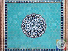 کاشی کاری های فیروزه ای در مسجد جامع یزد، دیدنی های یزد، آثار باستانی یزد