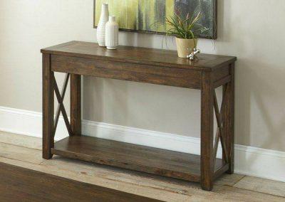 طراحی و ساخت میز کنسول چوبی , ایده و مدل های جالب میز چوبی سبک روستیک چوب کاج روسی