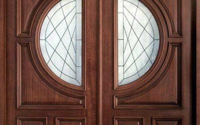 مدل درب چوبی ورودی ساختمان, درب ورودی چوب بلوط, درب ورودی واحد