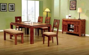 طراحی اتاق نشیمن چوبی
