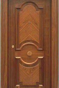 درب چوبی ترکیب چوب بلوط و گردو