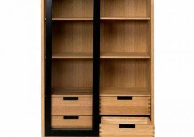 قفسه و کمد چوبی ایستاده , کتابخانه لوکس تمام چوب