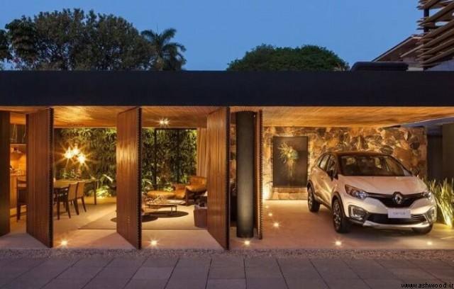 درب پارکینگ چوبی ,  مدل درب پارکینگ چوبی