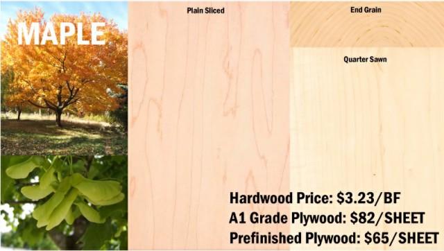 چوب افرا , معرفی انواع چوب