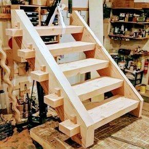 پله چوبی ویلایی، کلبه چوبی و آلاچیق
