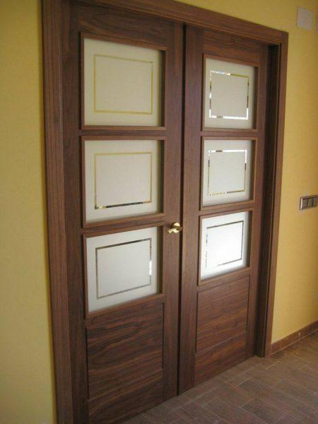 ایده و مدل درب چوبی , درب ورودی چوب گردو