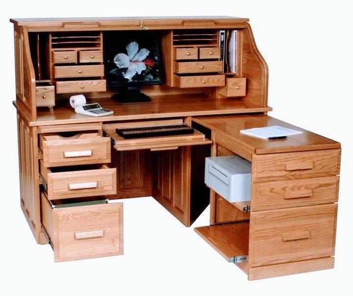 ساخت میز تحریر چوبی , سبک کلاسیک ,  میز تحریرساده , کتابخانه دار