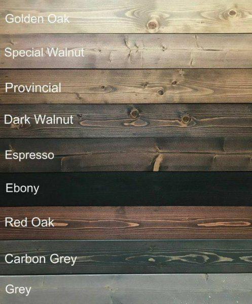 انواع رنگ چوب کاج روسی