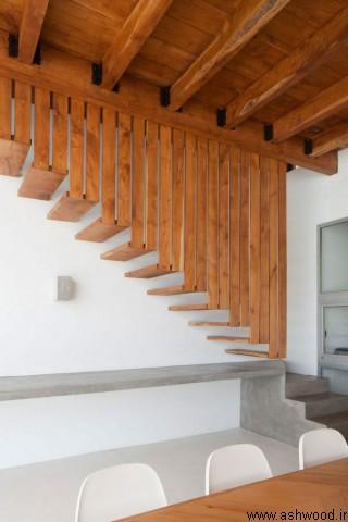 مدل های جدید نرده چوبی 2019 ، کف پله چوبی، نرده دوبلكس، پله دوبلكس، نرده راه پله