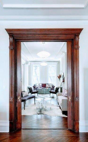 23 طرح جدید و منحصر به فرد درب و چهارچوب سبک کلاسیک چوبی