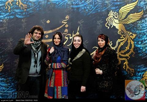 اولین تصاویر داغ ازهنرمندان دراختتامیه جشنواره بینالمللی فیلم فجر