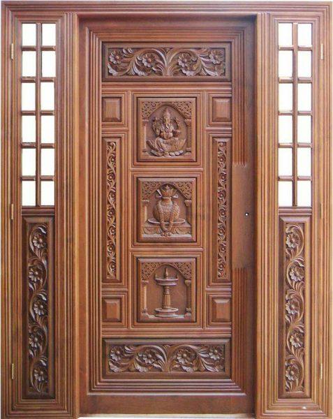 درب منبت کاری چوب، درب چوبی حکاکی