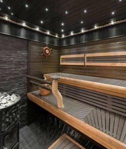 دکوراسیون چوبی سونا , مدل سونای خشک چوبی