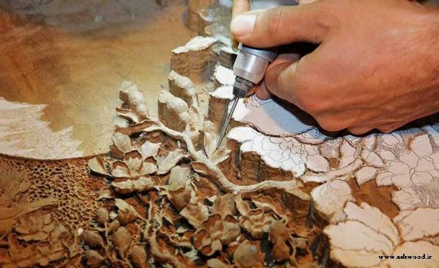 کاربرد ابزارهای مدرن در حکاکی چوب از آثار سنتی ایرانی در آثار هنرمندان