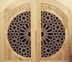 ساخت دکوراسیون و درب گره چینی سنتی سبک معماری اسلامی , نقوش هندسی