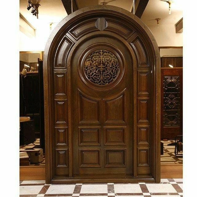 درب ورودی چوبی لوکس، ساخت سفارشی، مدل های در چوبی
