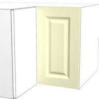 درب کابینت با قاب مستطیل ساده