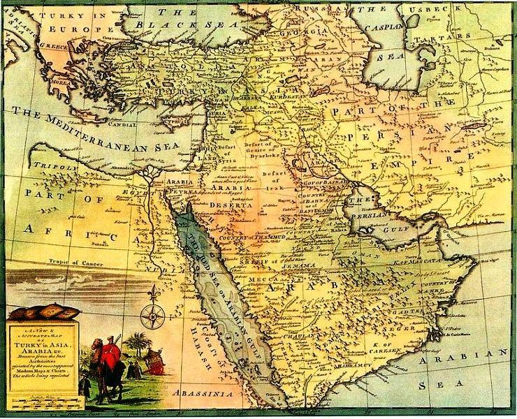 نقشه ایران در دوره صفویه
