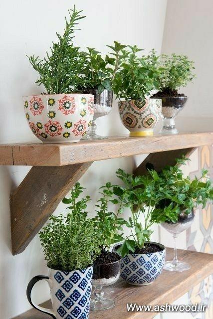 شلف های روستیک و چوب طبیعی در محوطه سازی و آشپزخانه فضای باز