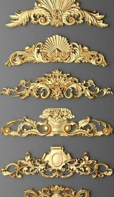تاج کلاسیک طلایی مشکی