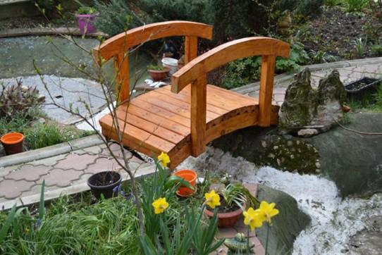 عکس پل چوبی