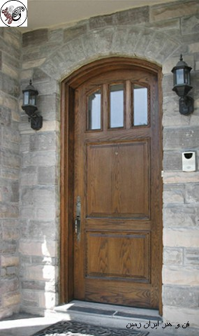 قیمت درب چوبی , درب چوبی ورودی ساختمان , درب چوبی لوکس , زیباترین مدل های درب ورودی برای ساختمان شیک و مدرن