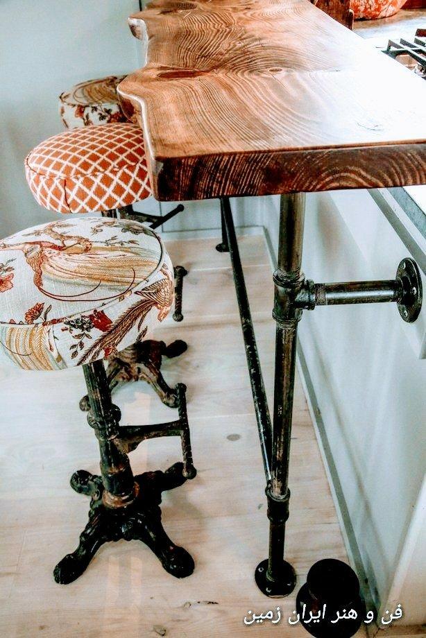 ایده برداری ساخت میز با اسلب چوبی$$