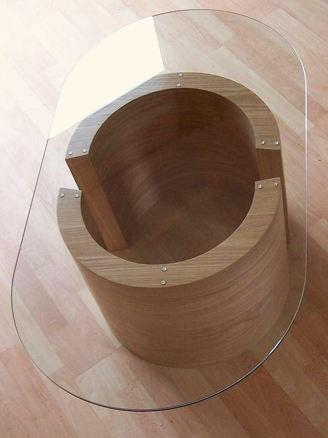 ایده میز چوب و شیشه