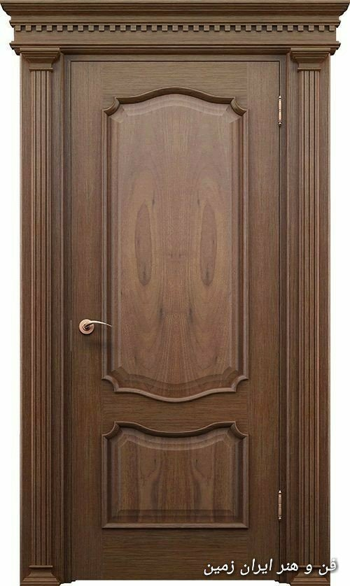 ساخت درب چوبی + چهارچوب و روکوب چهار چوب درب