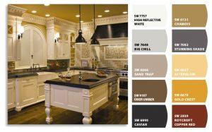 رنگ بندی و رنگ آمیزی  کابینت آشپزخانه