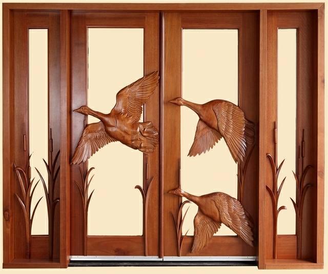 درب تمام چوب منبت با نقوش زیبا، درب کلاسیک چوبی، درب چوبی زیبا