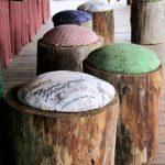 ایده های جدید و منحصر به فرد برای تنه درخت در دکوراسیون داخلی منزل ، سبک روستیک