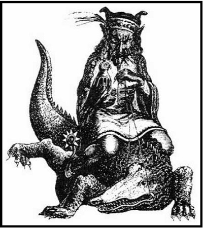 Agares از کالین د پالنسی « Dictionnaire Infernal »، پاریس ، 1863.