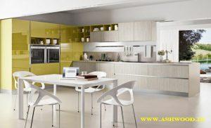 رنگ زرد و سفید در دکوراسیون آشپزخانه