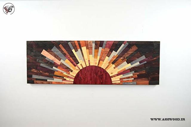 هنر دیوار چوبی به شکل خورشید یا آفتابگردان
