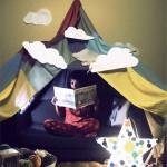 تصاویری جدید از دکوراسیون اتاق کودک - چادر گردش را به پا کنید