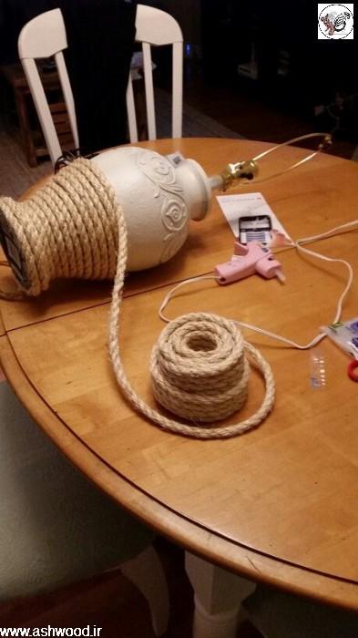 تزئینات و دکوراسیون زیبا با طناب کنفی