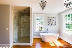 دکوراسیون چوبی سرویس بهداشتی و حمام