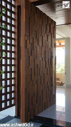 طرح های درب ورودی , لابی مدرن
