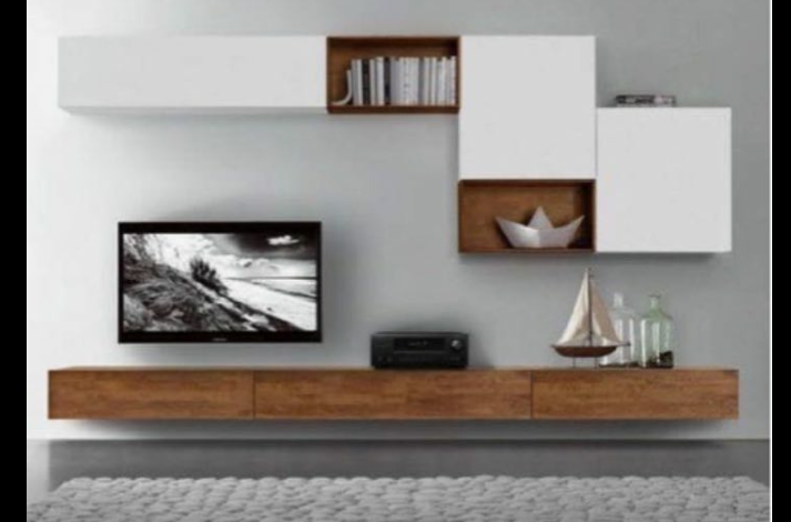 میز تلویزیون دیواری چوب بلوط