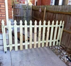 نرده چوبی , حصار
