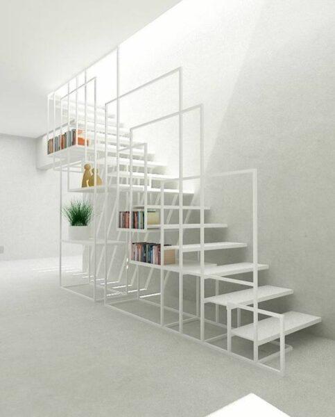 پله های چوبی جالب و بهینه سازی شده، اجرای فضا سازی و کمد و کابینت زیر پله چوبی