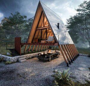 سازه های جالب صنایع چوب