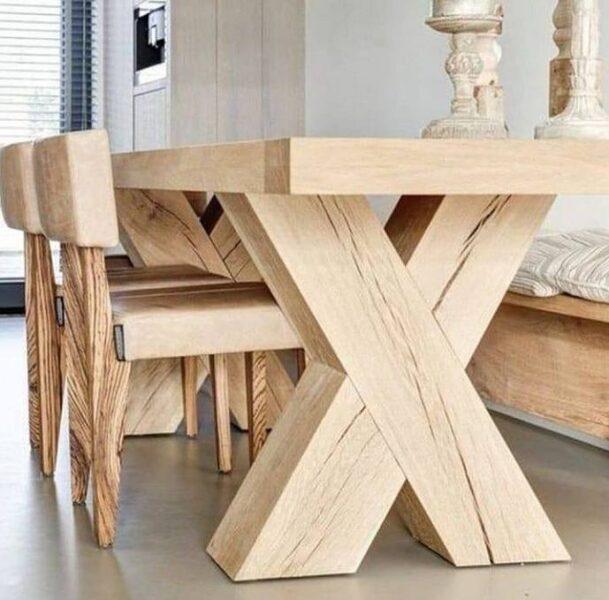 میز و نیمکت چوبی , میز ناهار خوری
