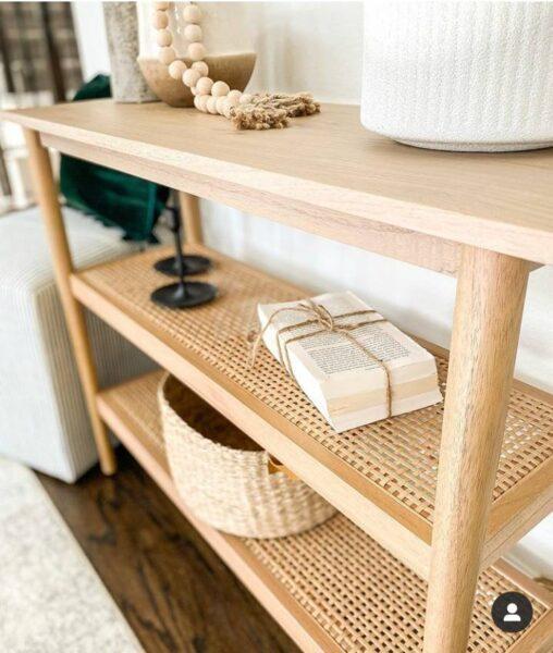 ایده میز کنسول چوبی 2020 , آینه کنسول مد روز